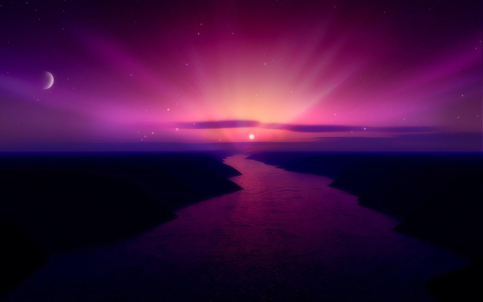 Morning Purple Sunrise Wallpapers