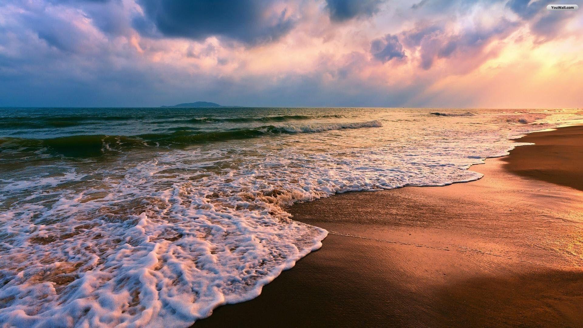 sunrise beach sand wallpaper - photo #15