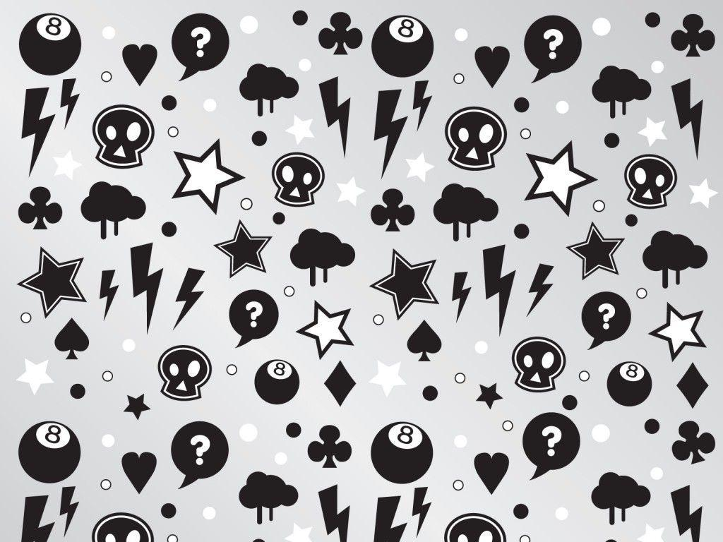 Punk Characters Pattern PPT Backgrounds