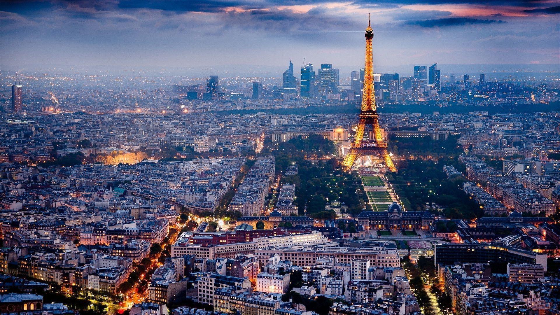 Desktop HD wallpaper: Paris Night Desktop Wallpapers