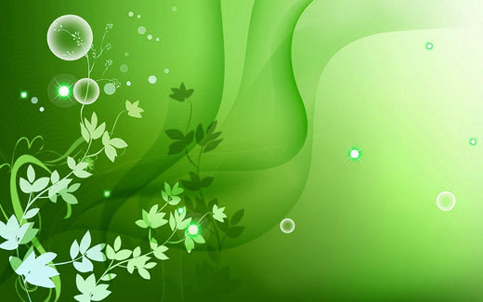 Color Wallpaper Green Flower