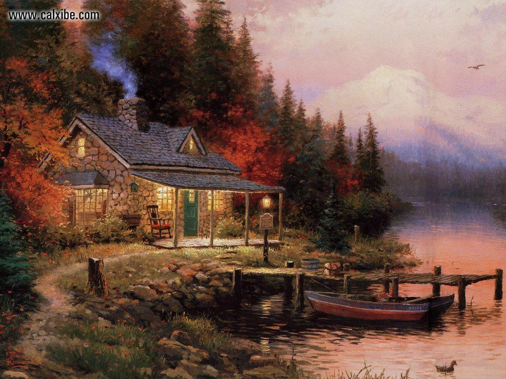 kinkade summer wallpaper drawing - photo #23