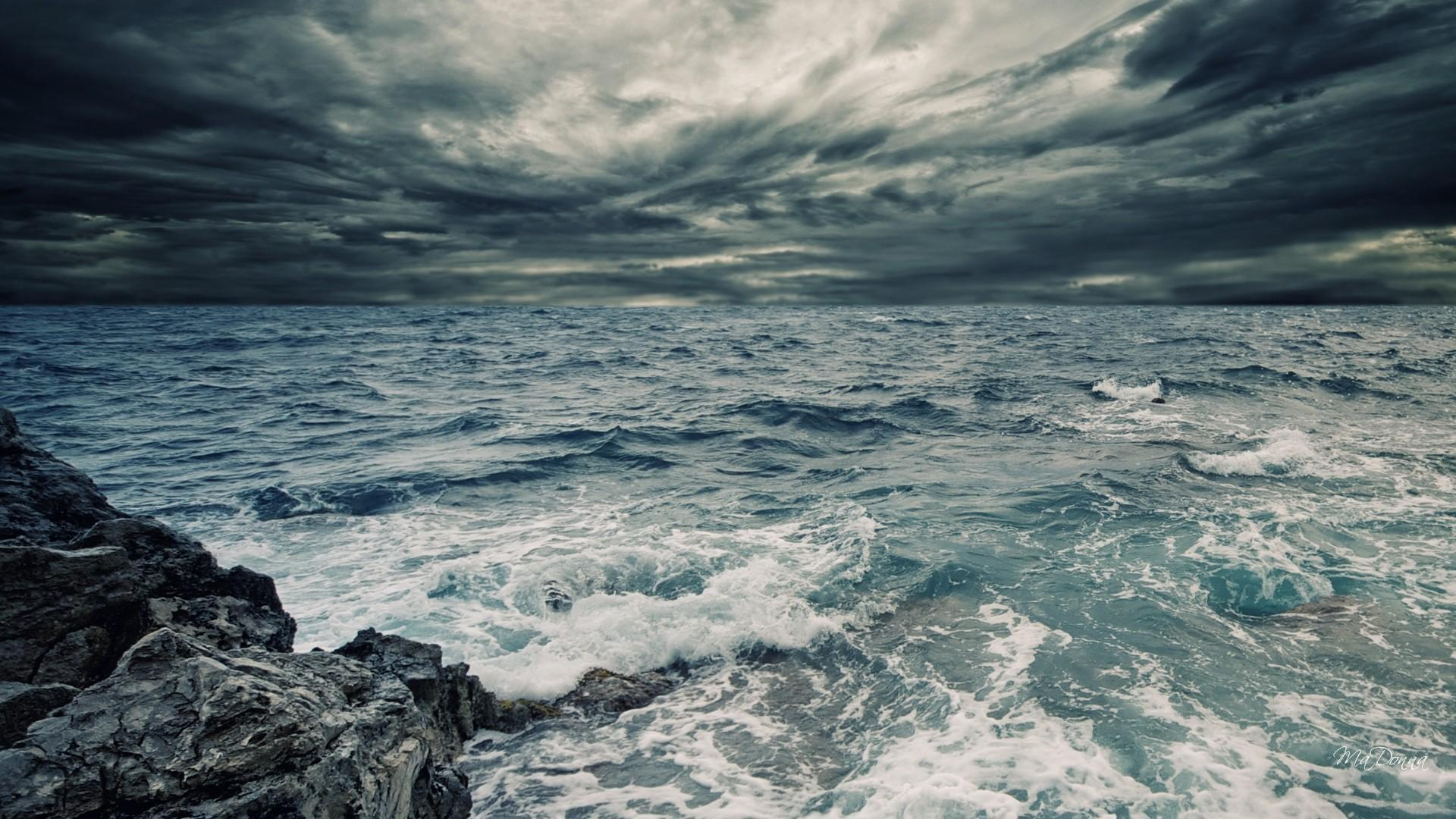 HD Stormy Sea Sky Wallpapers