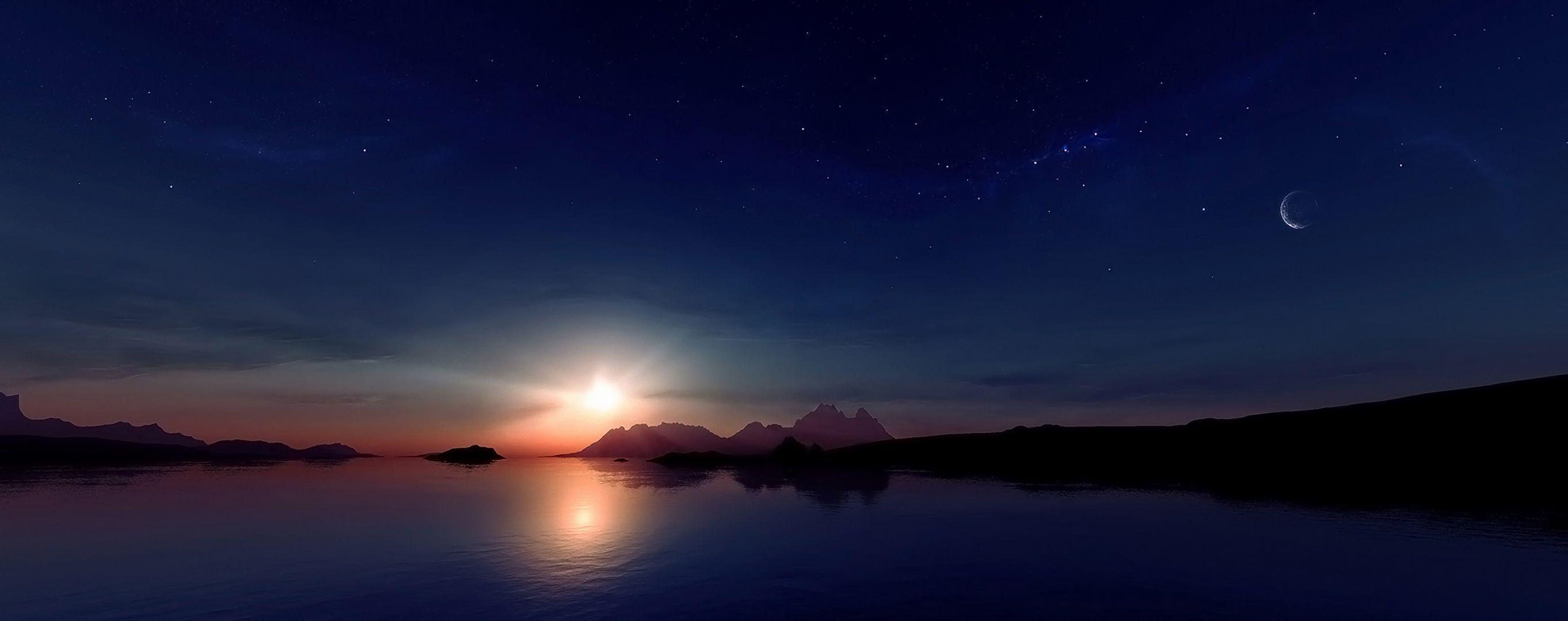 sun moon star background - photo #40