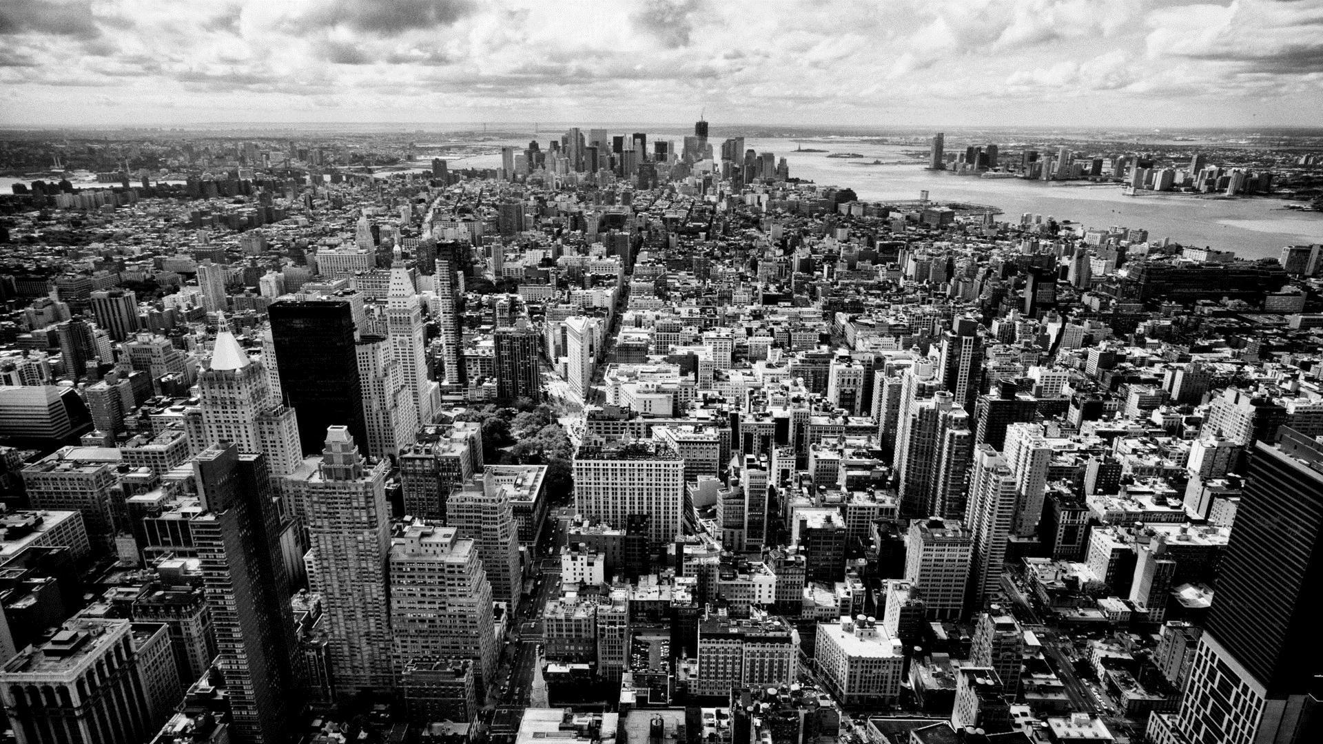 Black and white city wallpapers wallpaper cave for Black and white new york mural wallpaper