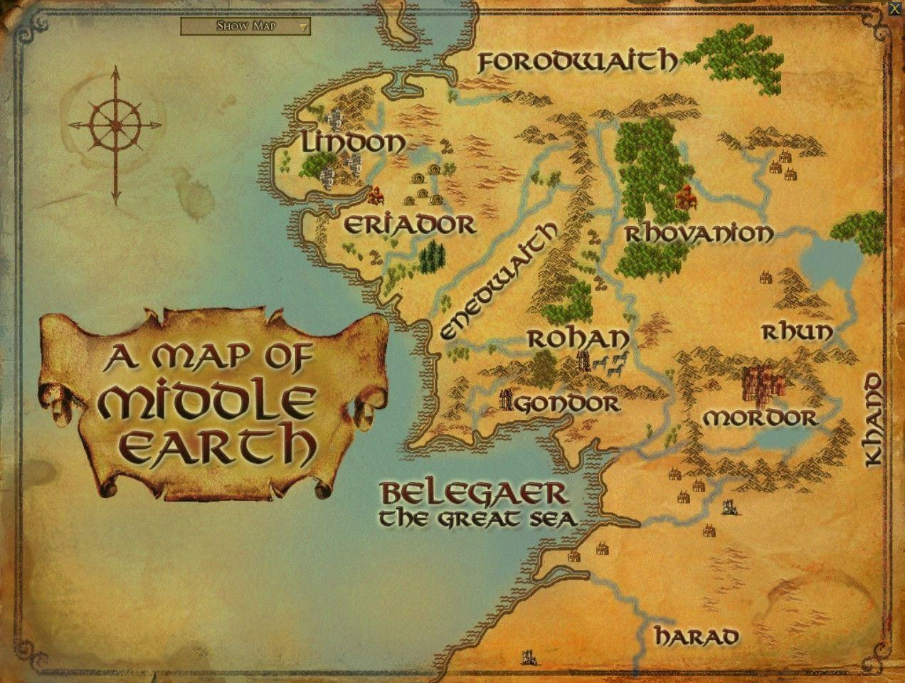 Middle Earth Map Wallpapers Pictures