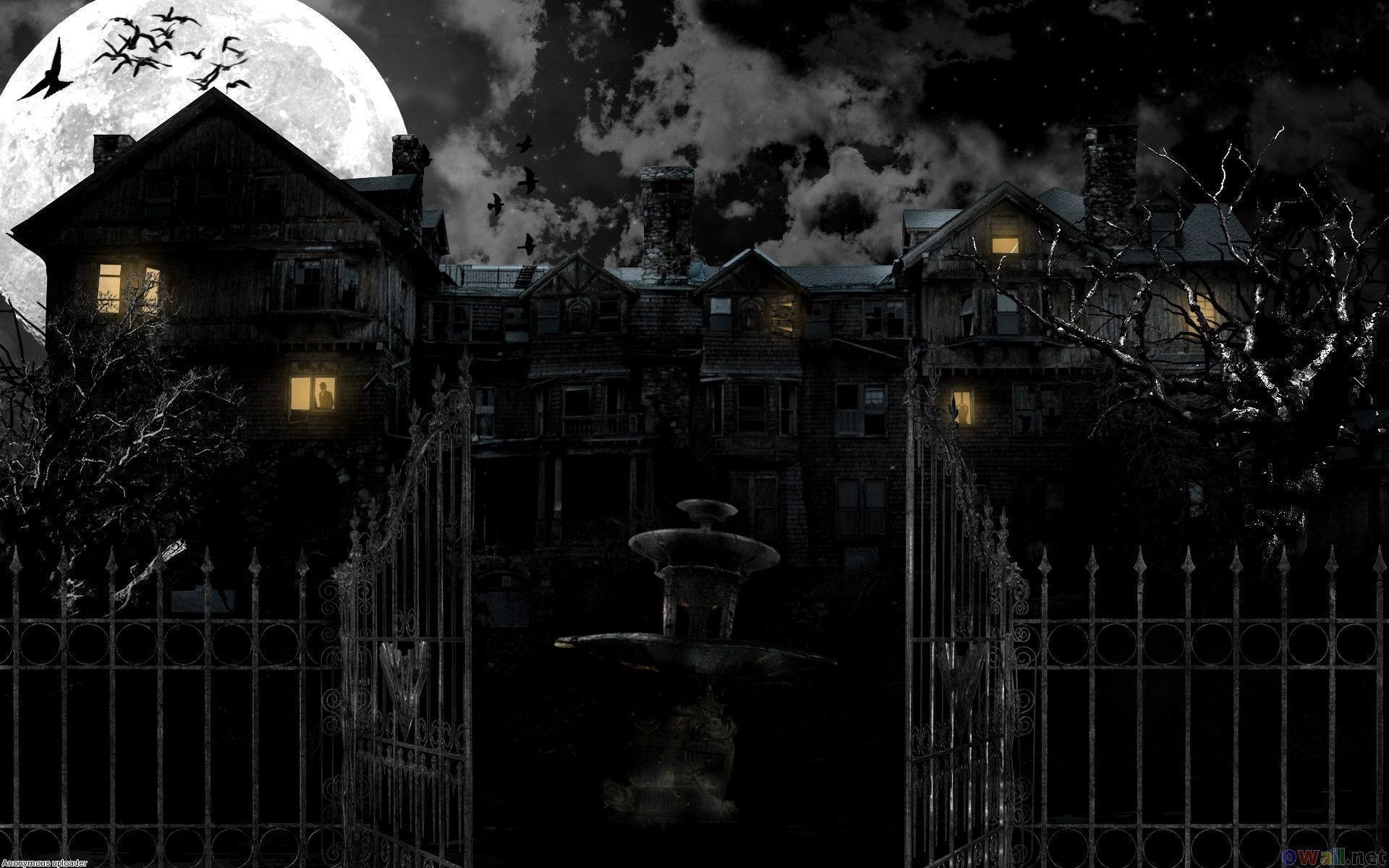 haunted house wallpaper - photo #1