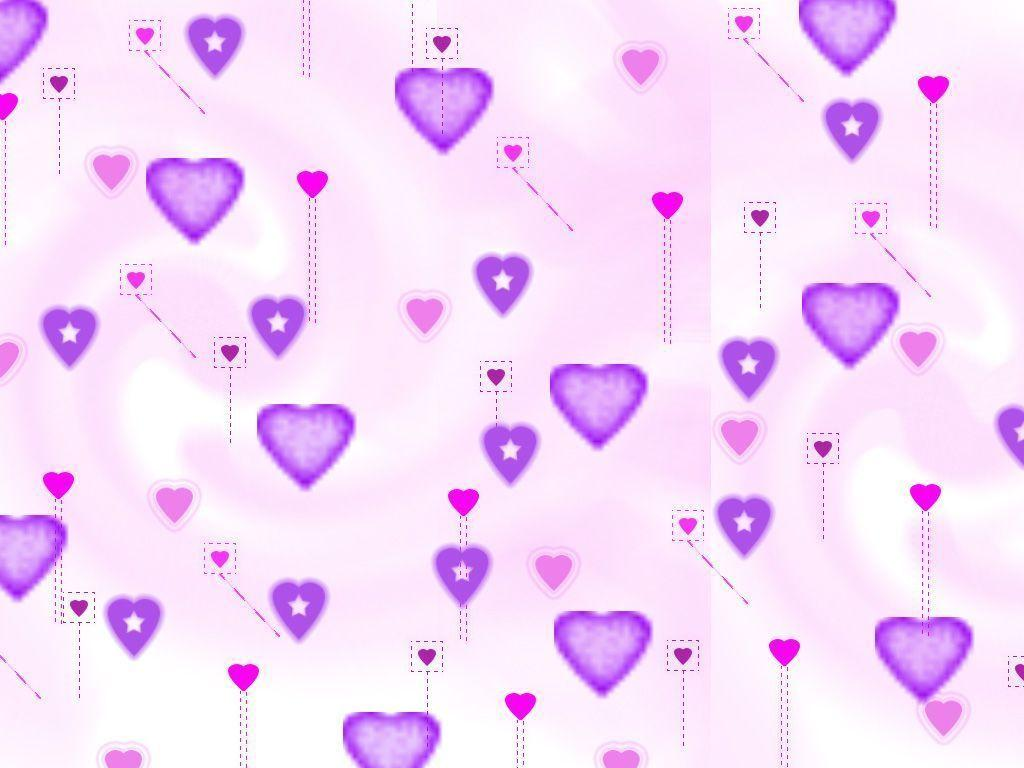 wallpapers purple hearts pink - photo #23