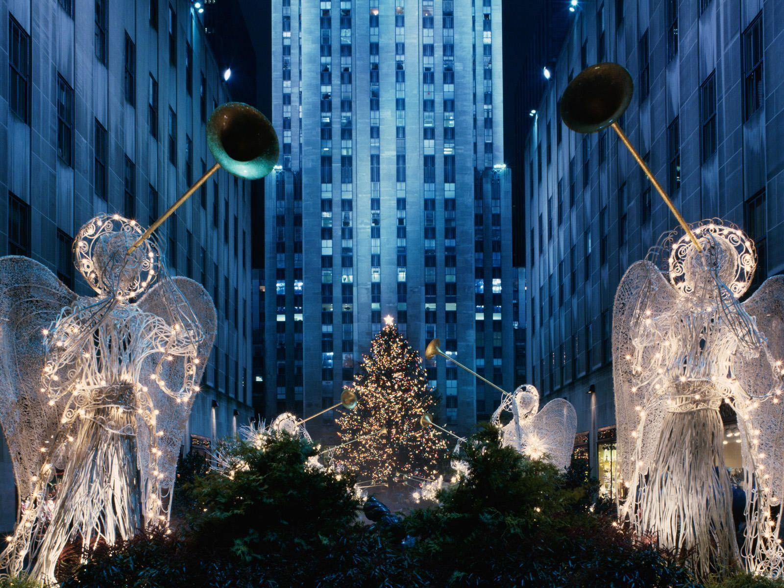 Pix For > New York Christmas Wallpapers