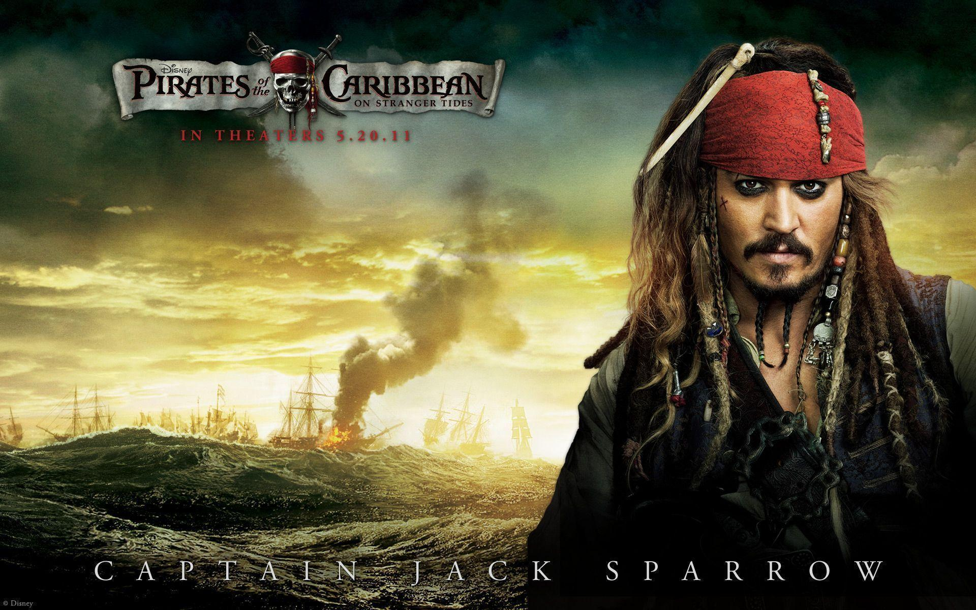 Johnny Depp in Pirates Of The Caribbean 4 Wallpapers