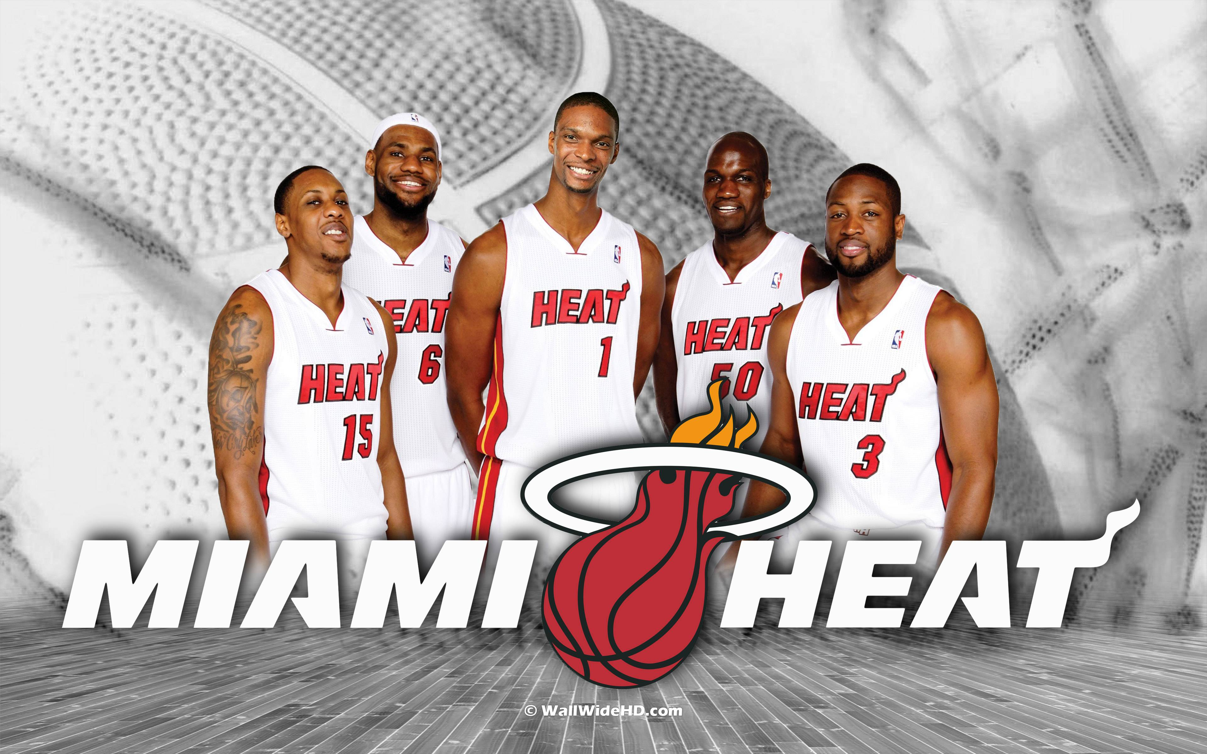 2014 Miami Heat Starting Lineup NBA Wallpapers Wide or HD