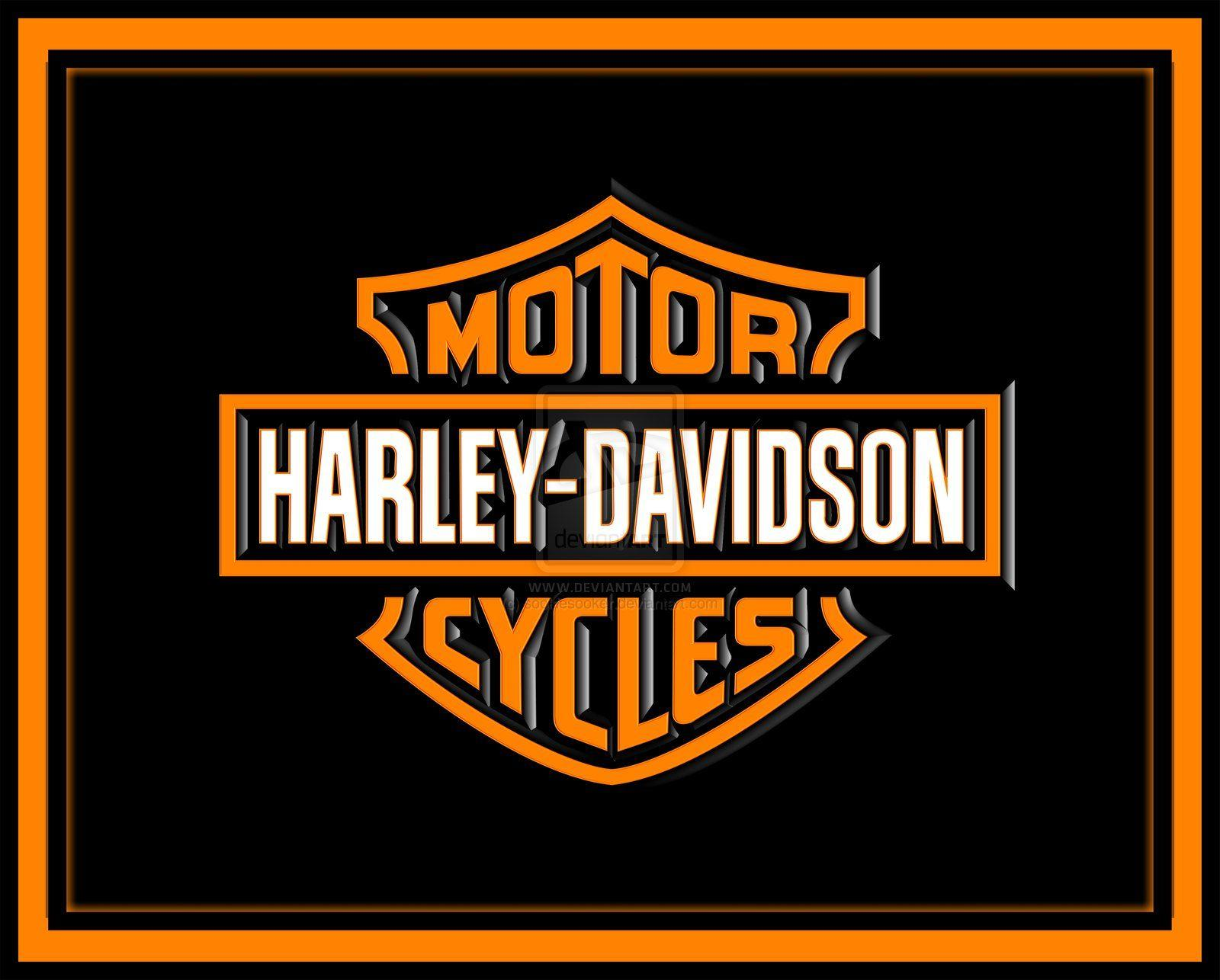 Harley Davidson Logo With Flames Widescreen 2 HD Wallpapers