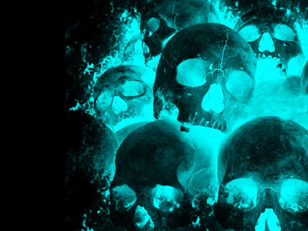 blue wallpaper skull - photo #32