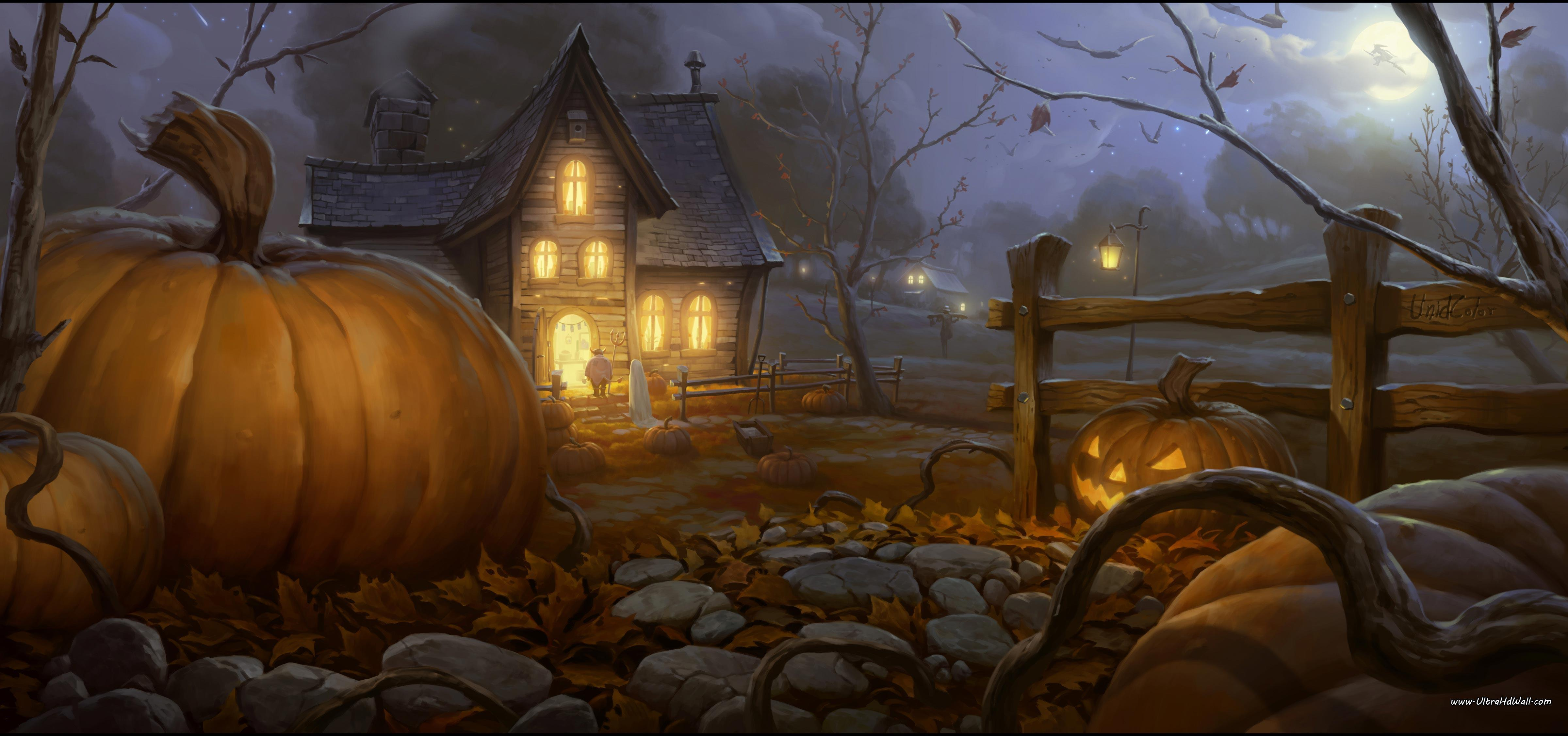 Halloween desktop wallpapers free wallpaper cave - Scary halloween screensavers animated ...