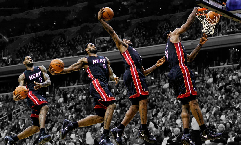 Lebron James Miami Heat 4 Part Free Throw
