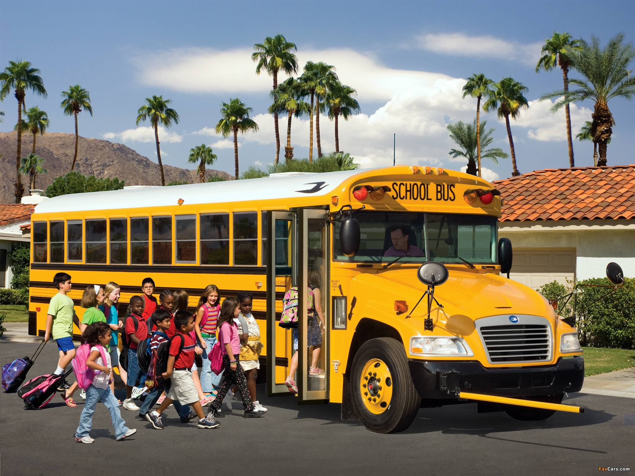 Blue Bird Bus >> School Bus Wallpapers - Wallpaper Cave