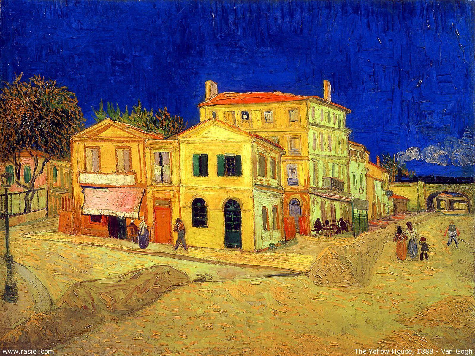 The Yellow House Vincent van Gogh Wallpapers