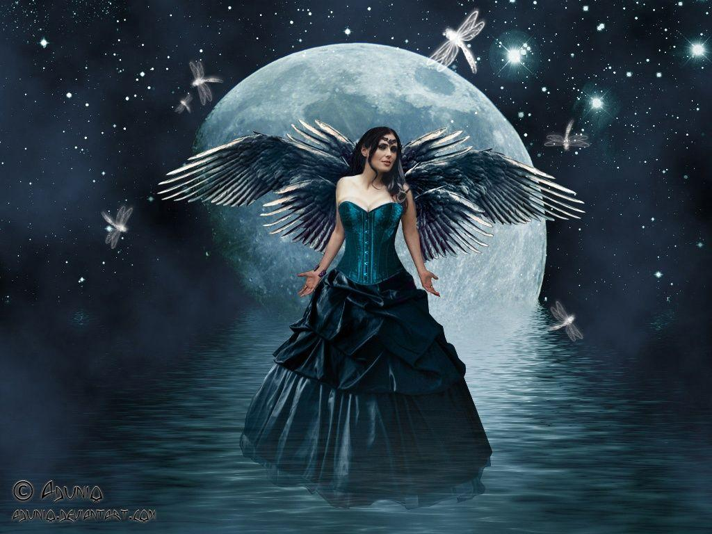 Water Gothic Fairy Wallpaper