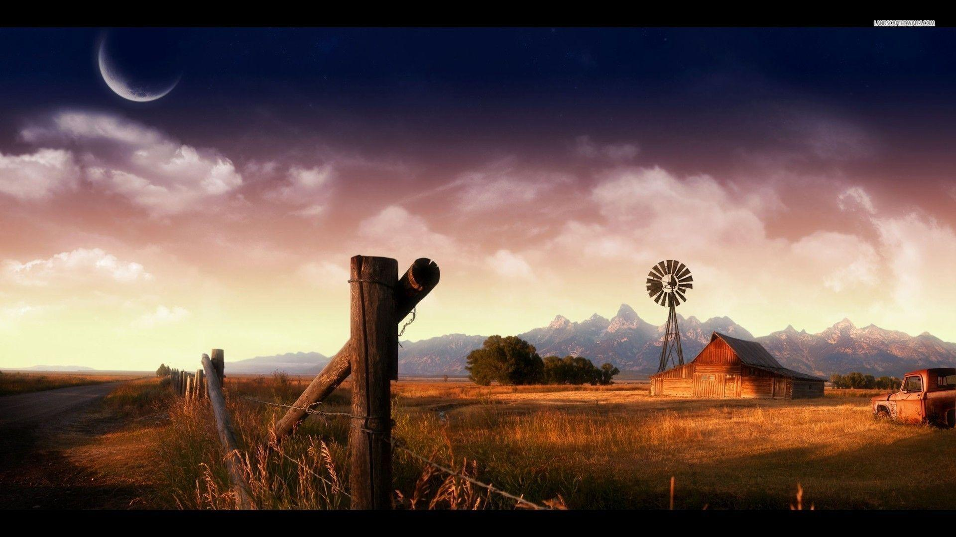 Wallpapers For Country Barn Wallpaper