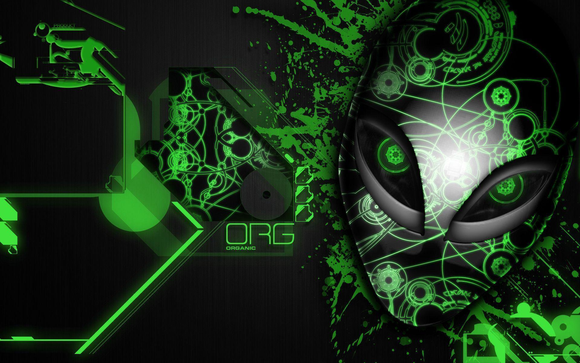 alienware wallpaper green hd - photo #23