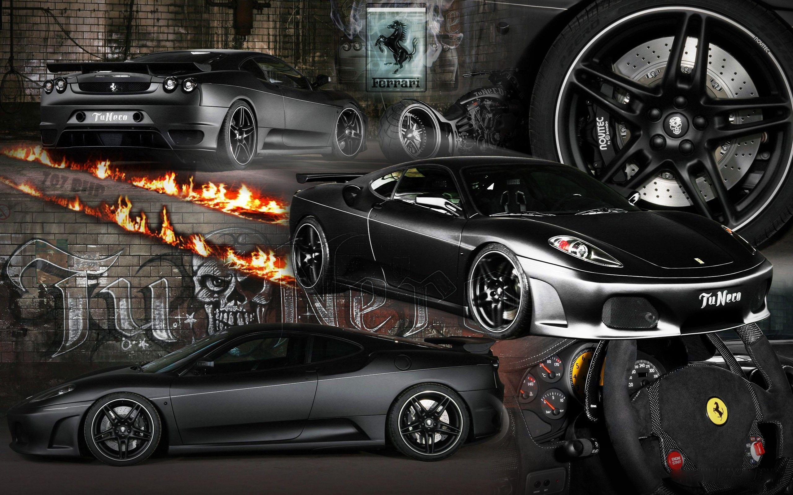 Images For Black Ferrari Sports Car Wallpaper