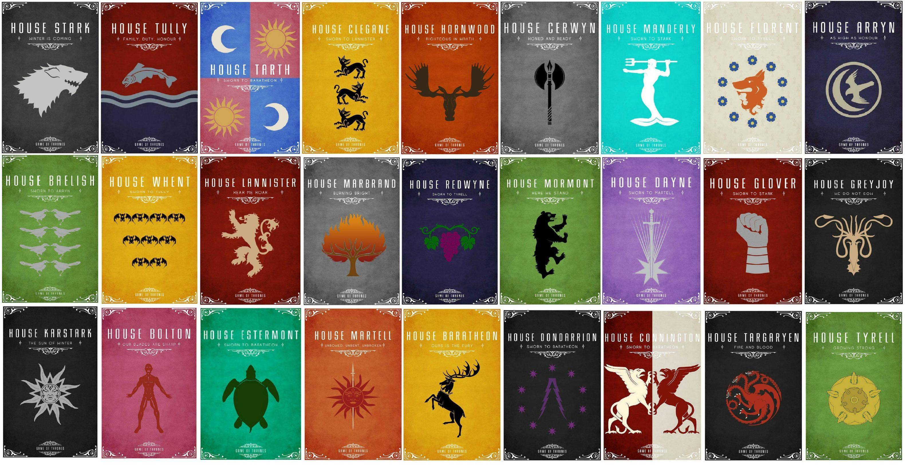 Game of Thrones Houses HD Wallpapers