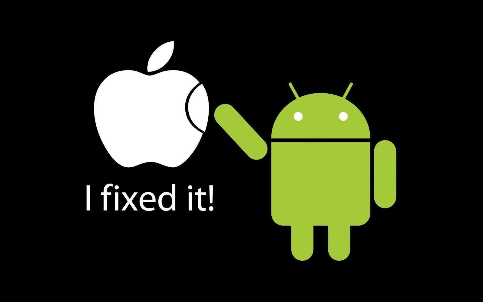 Funny Apple And Android Wallpaper Desktop #7732 Wallpaper ...
