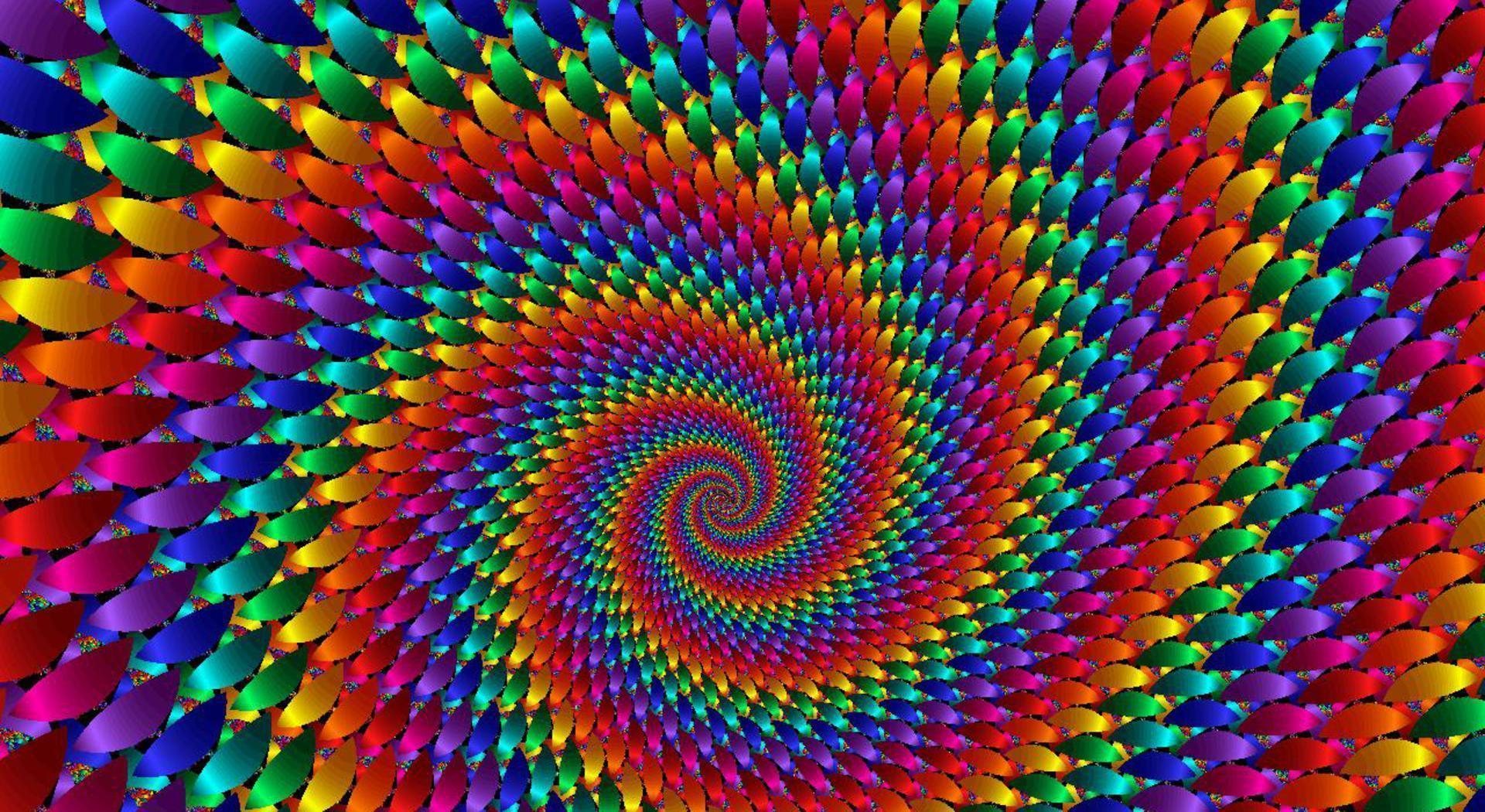 Psychedelic Abstraction Symmetric Pattern Wallpaper