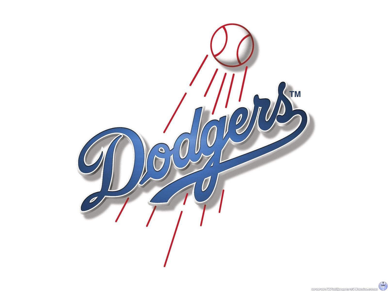 Pix For Dodgers Logo Black Wallpaper
