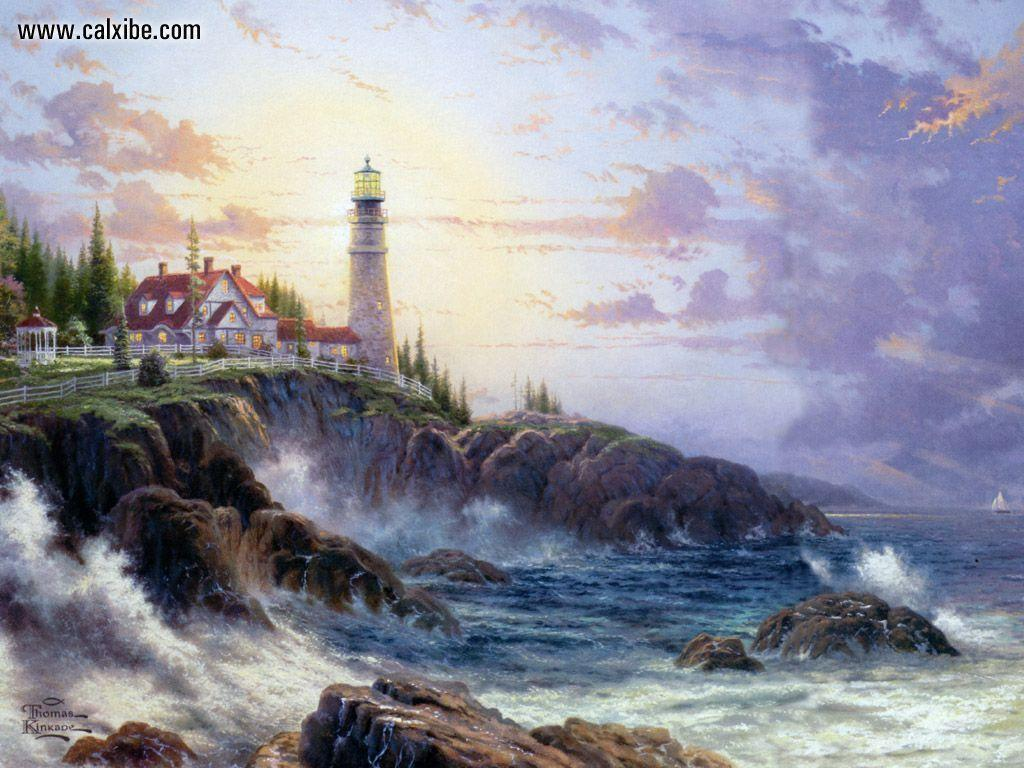 Free Winter Wallpapers By Thomas Kinkade 52967 HD Pictures