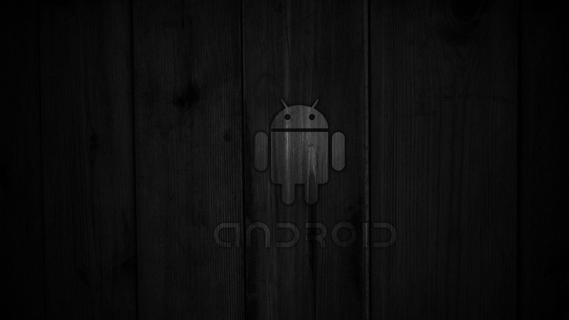 Black Android Logo Wallpaper | Wallpaper Download