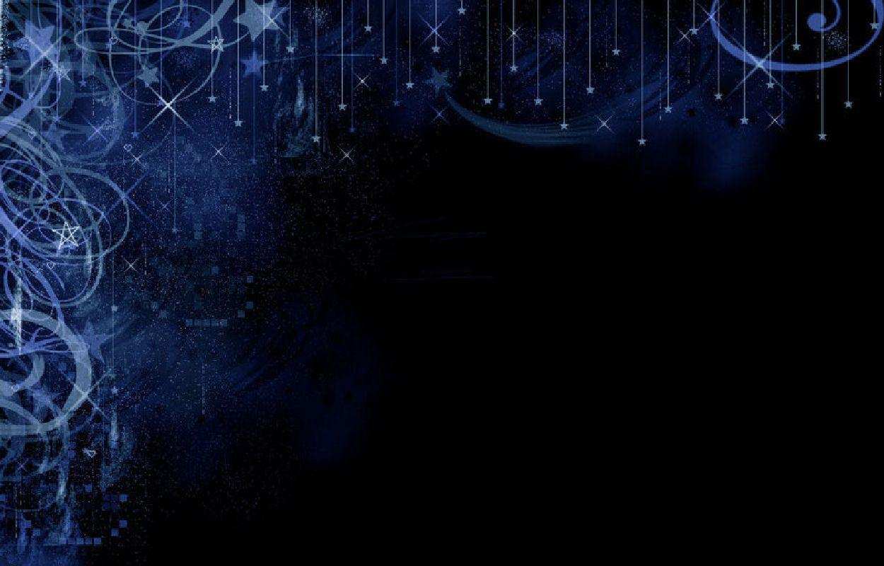 Black And Blue Stars Backgrounds Dark Blue Backg...