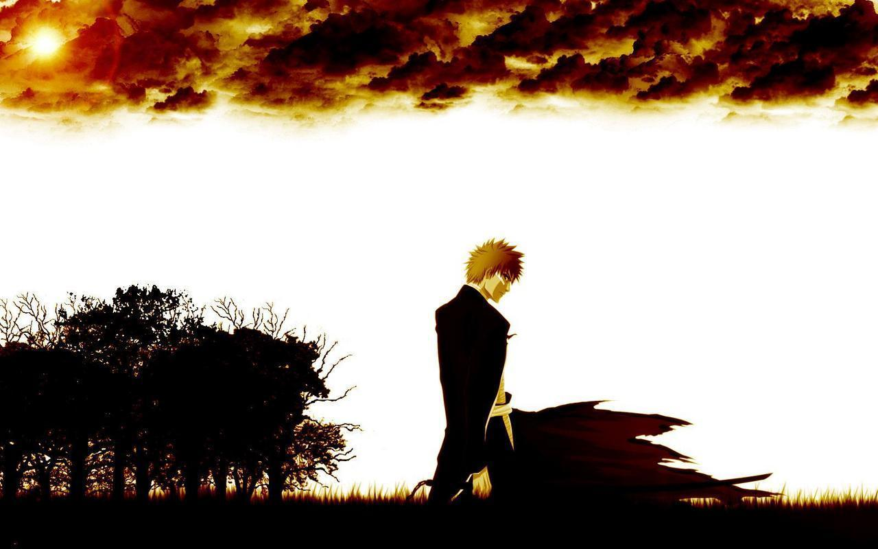 Bleach Ichigo Forest and Clouds Wallpaper | Customity