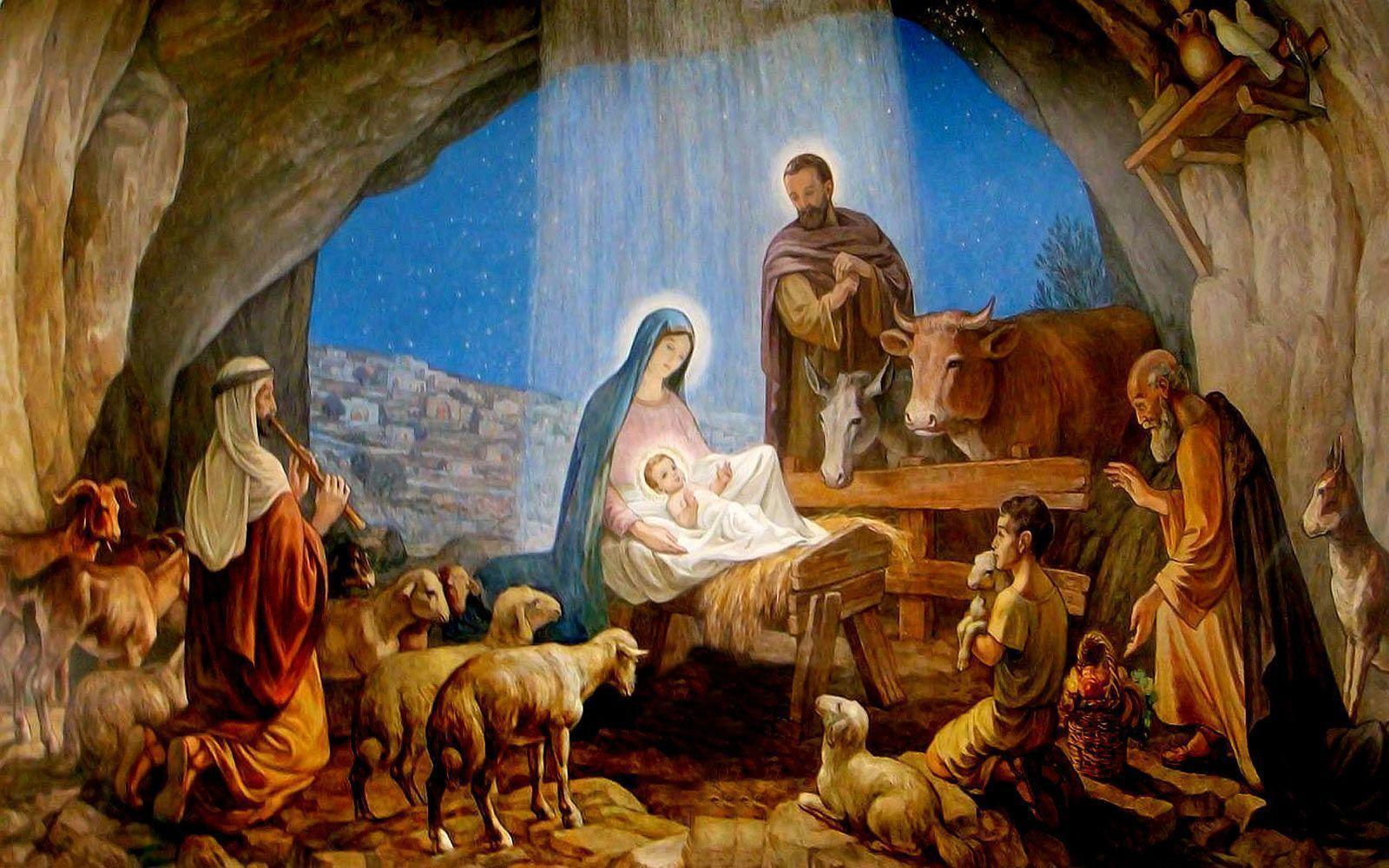 Xmas Stuff For > Christian Nativity Christmas Backgrounds