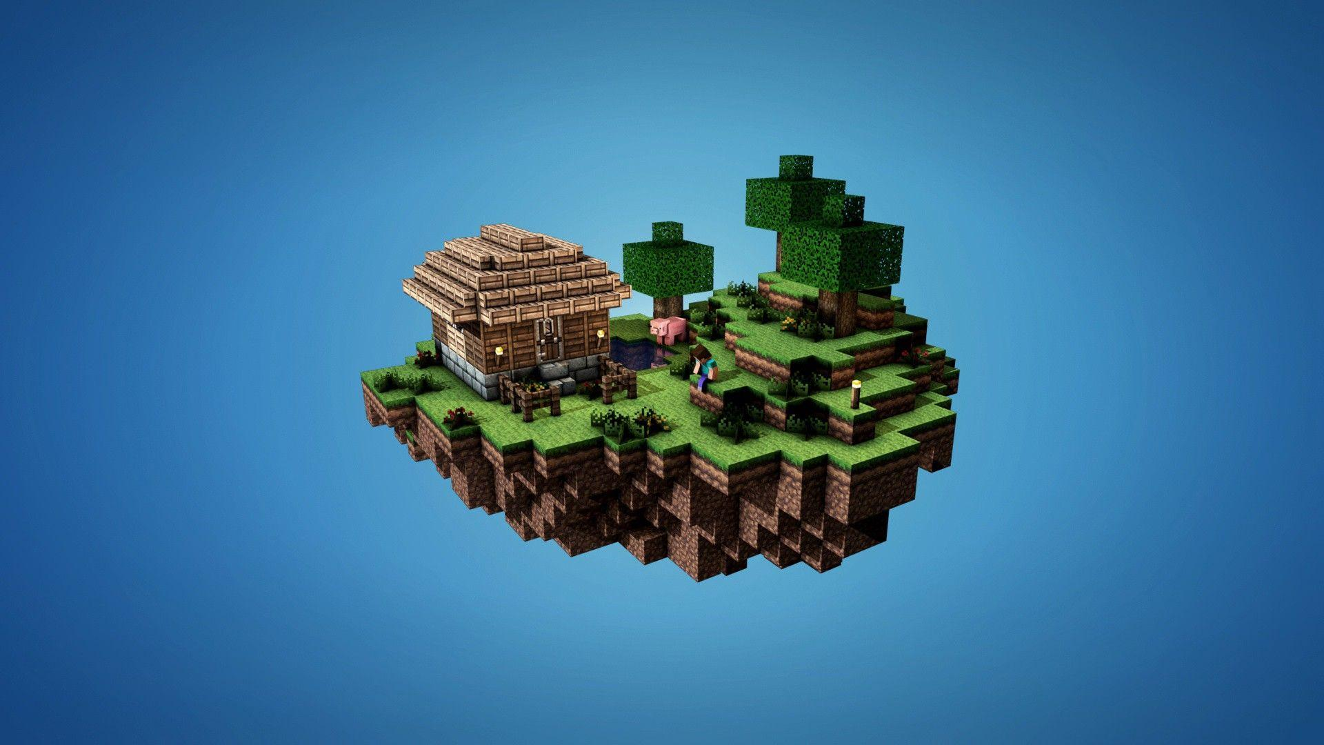 Minimalistic Minecraft Wallpaper - Destkop Backgrounds