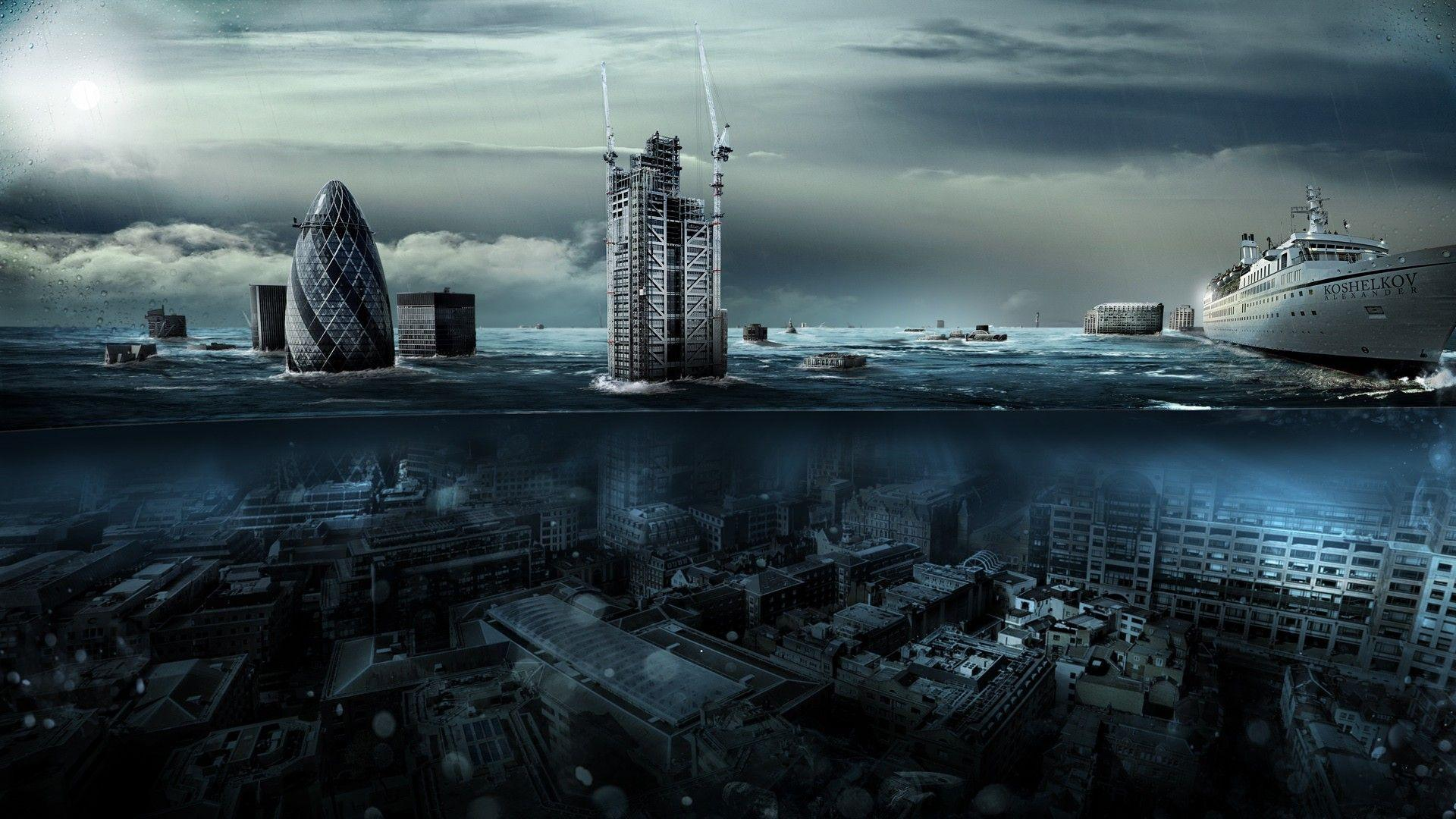 Daily Wallpaper: London Underwater