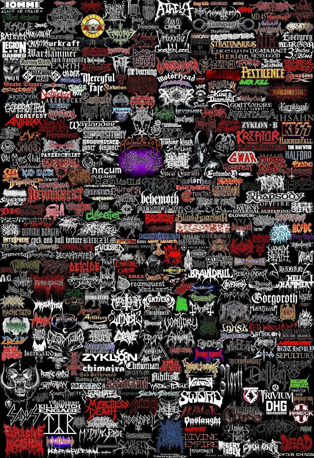 Metal Band Logo Hd Quality Wallpapers