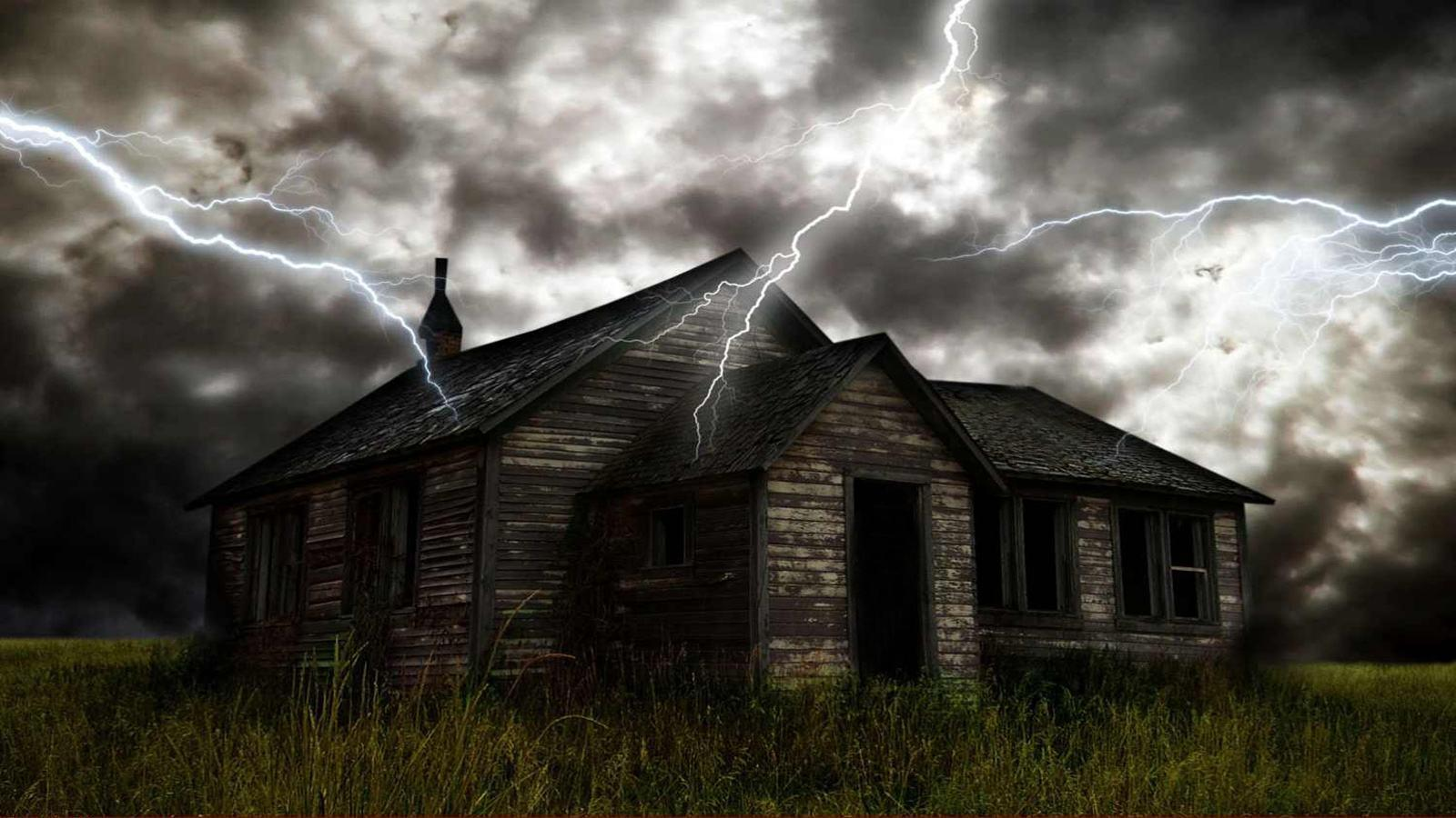 Scary house backgrounds wallpaper cave for Wallpaper with houses on