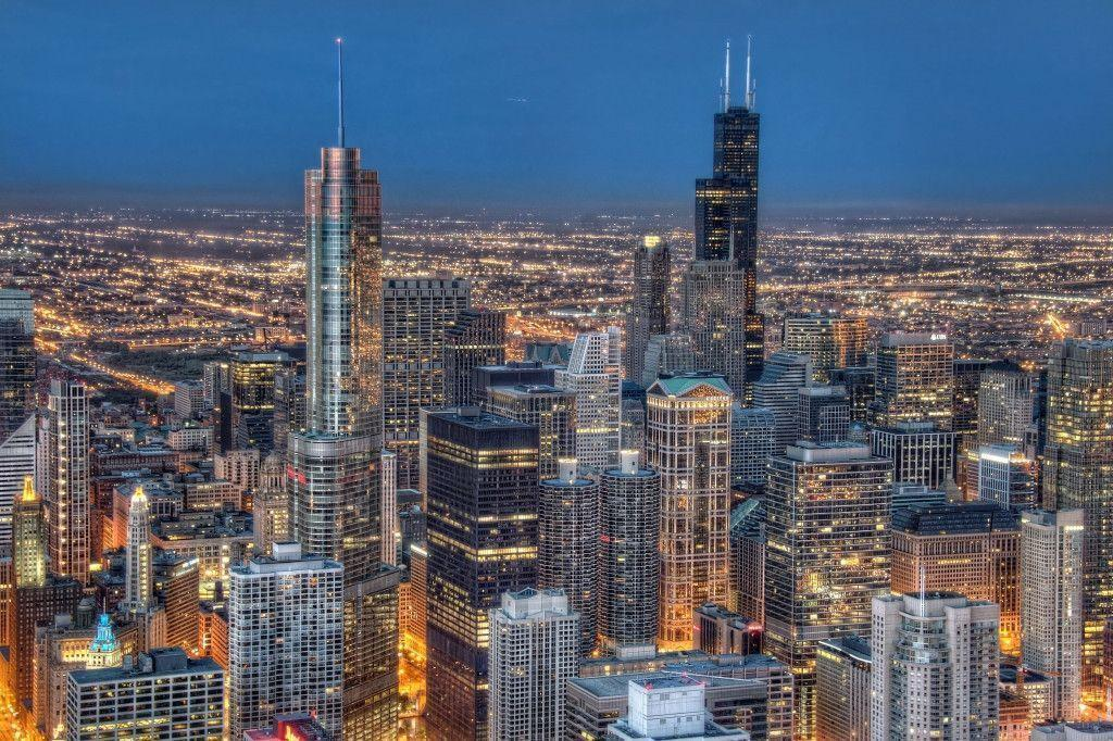 Sea sparkling Chicago (2275) | Architecture Wallpaper Osteotx.