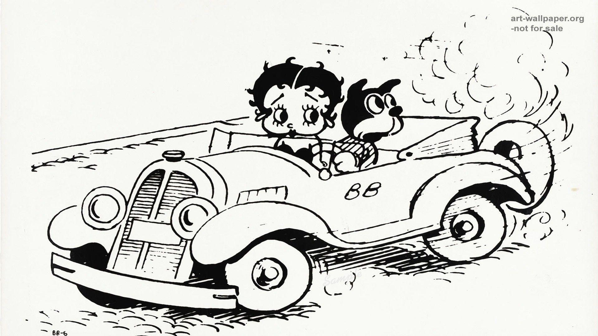 Image For > Betty Boop Black And White