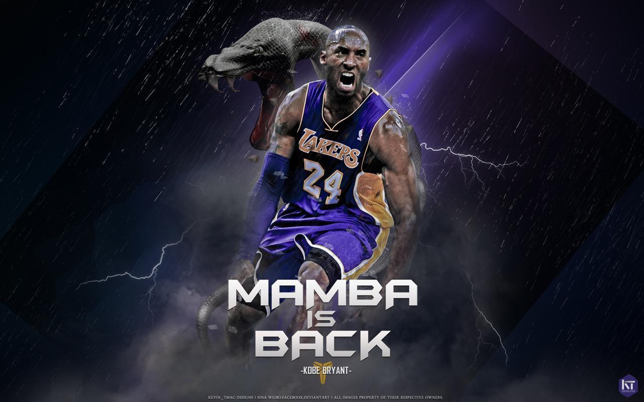 new style 1ff3a a496b Kobe Bryant Mamba Is Back Wallpaper - Streetball