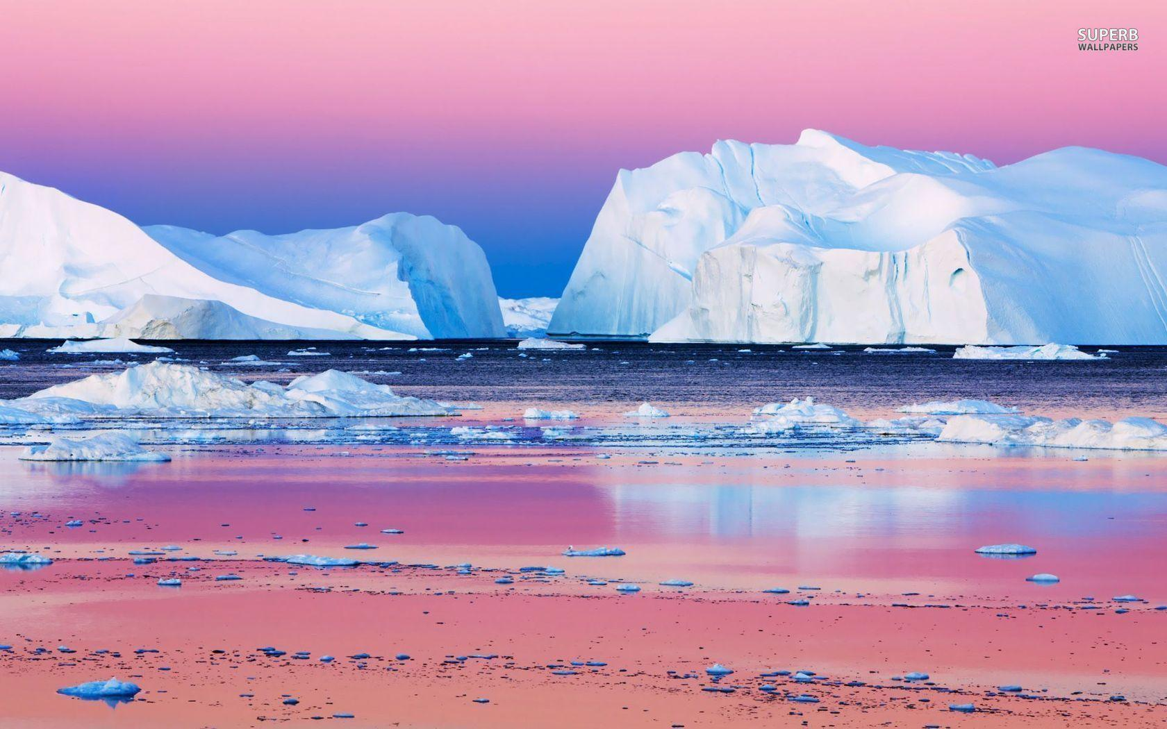 Icebergs in Disko Bay, Greenland wallpapers