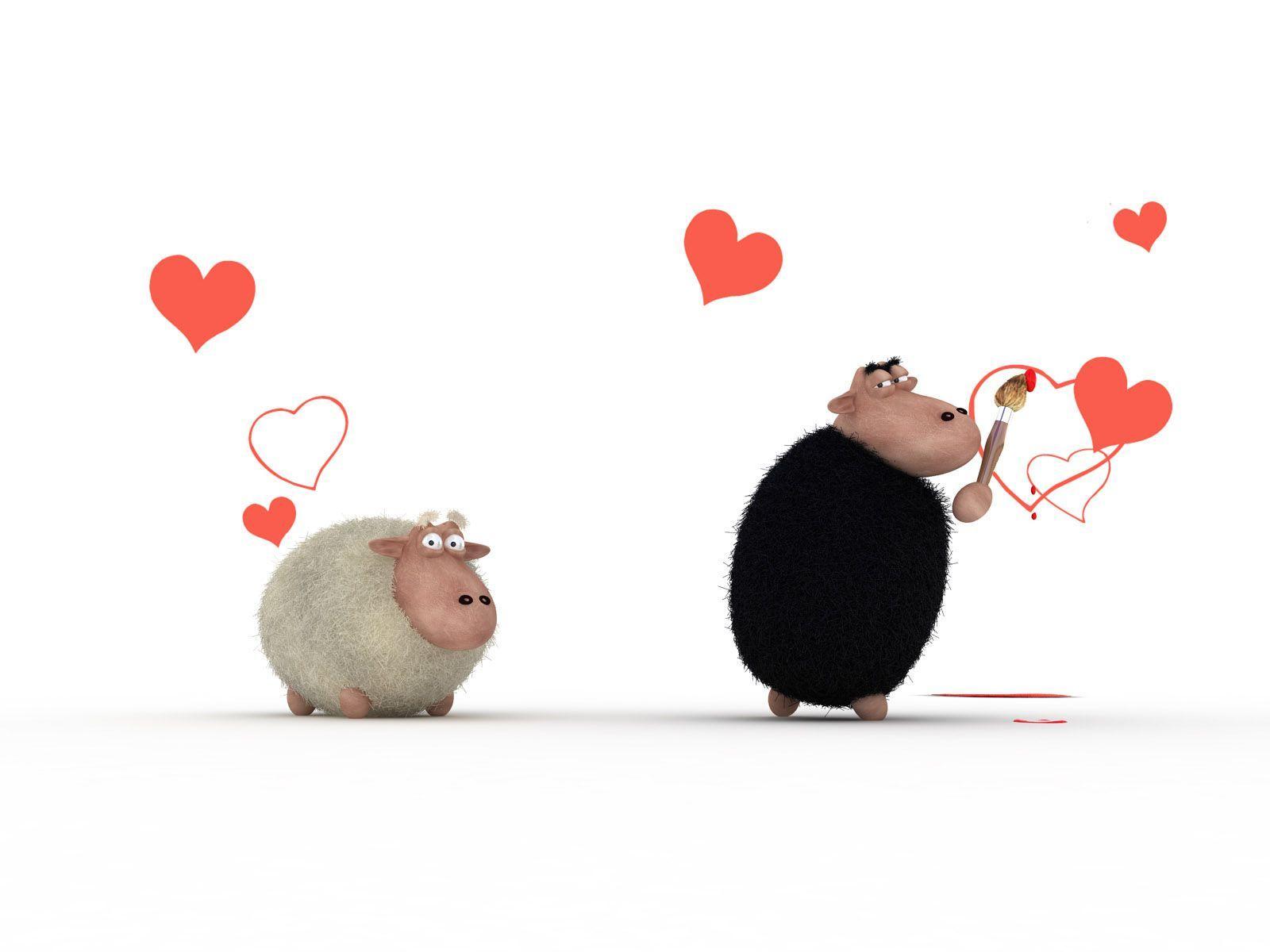 Прикольные рисунки с днем влюбленных