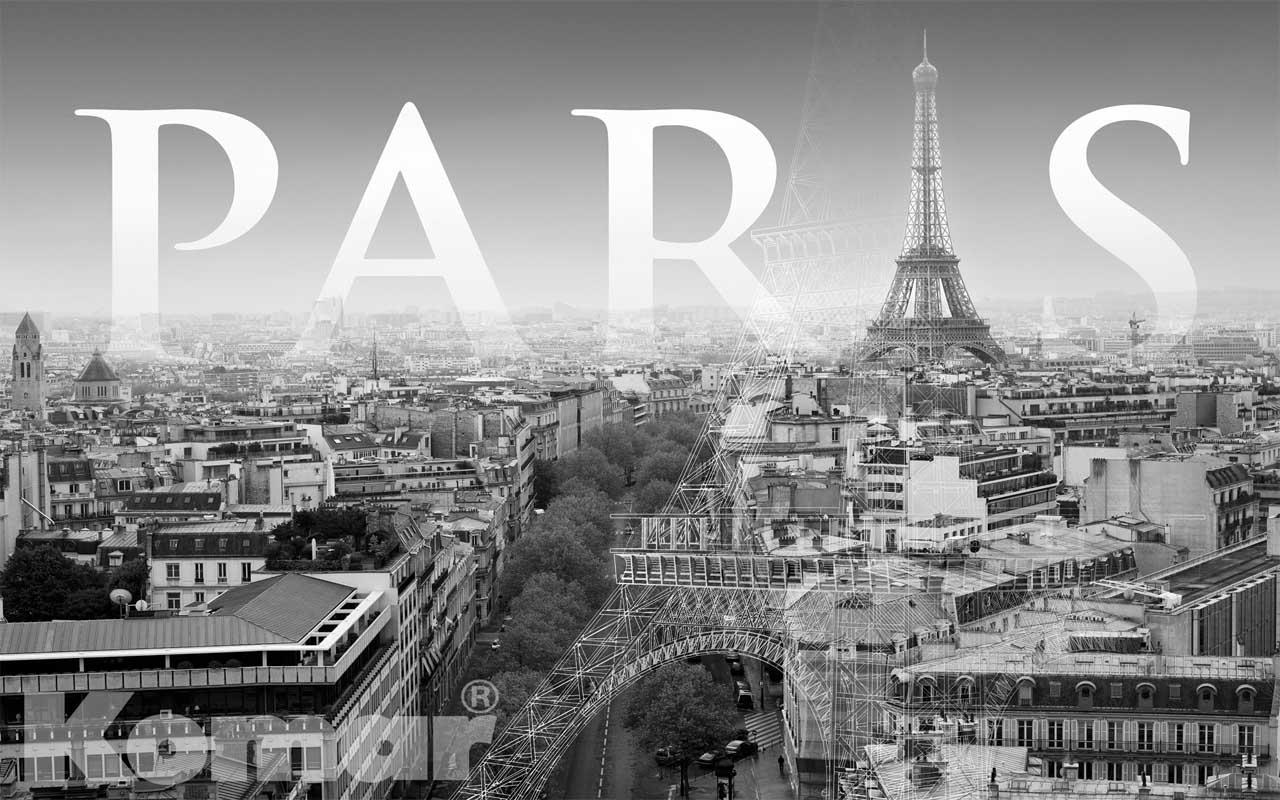 Paris wallpapers wallpaper cave for Eiffel tower wall mural black and white