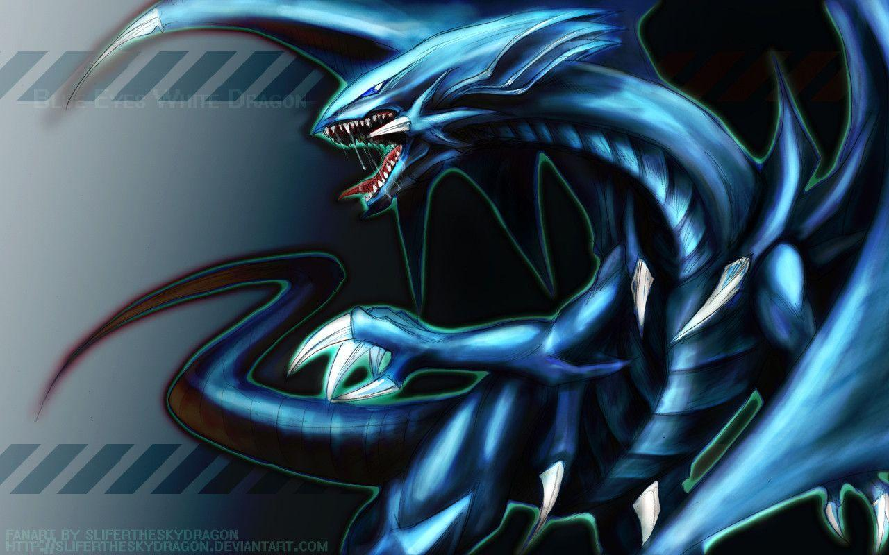 Blue Eyes White Dragon Wallpapers Wallpaper Cave