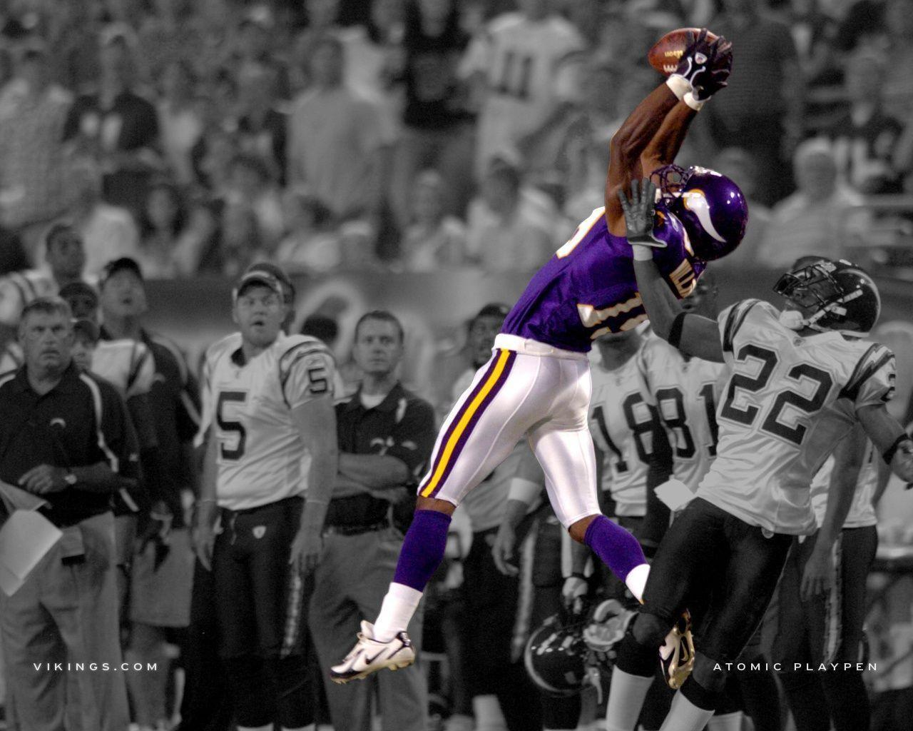 Minnesota Vikings Atomic Playpen Wallpaper