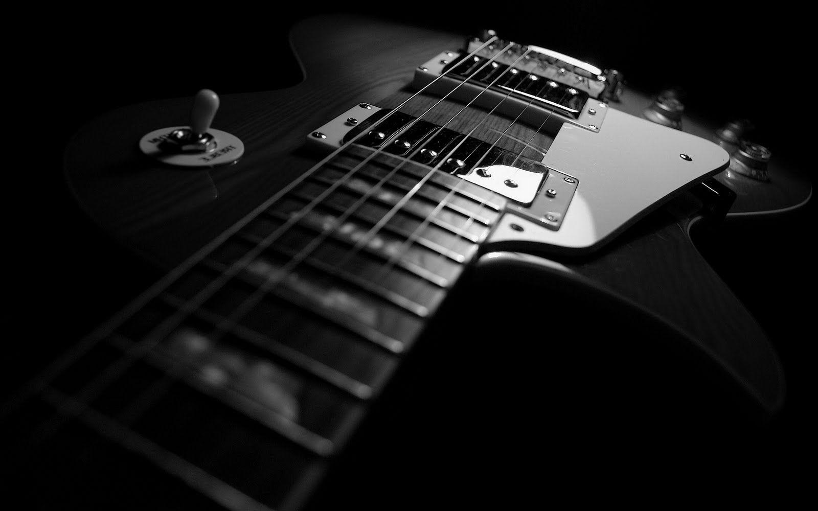 Hd Wallpapers Black Guitar
