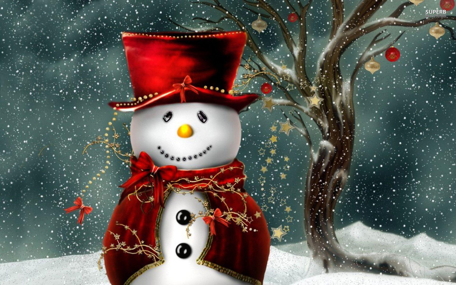 cute country snowman wallpaper - photo #9