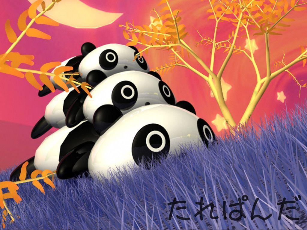 Cartoon Panda Wallpapers Wallpaper Cave