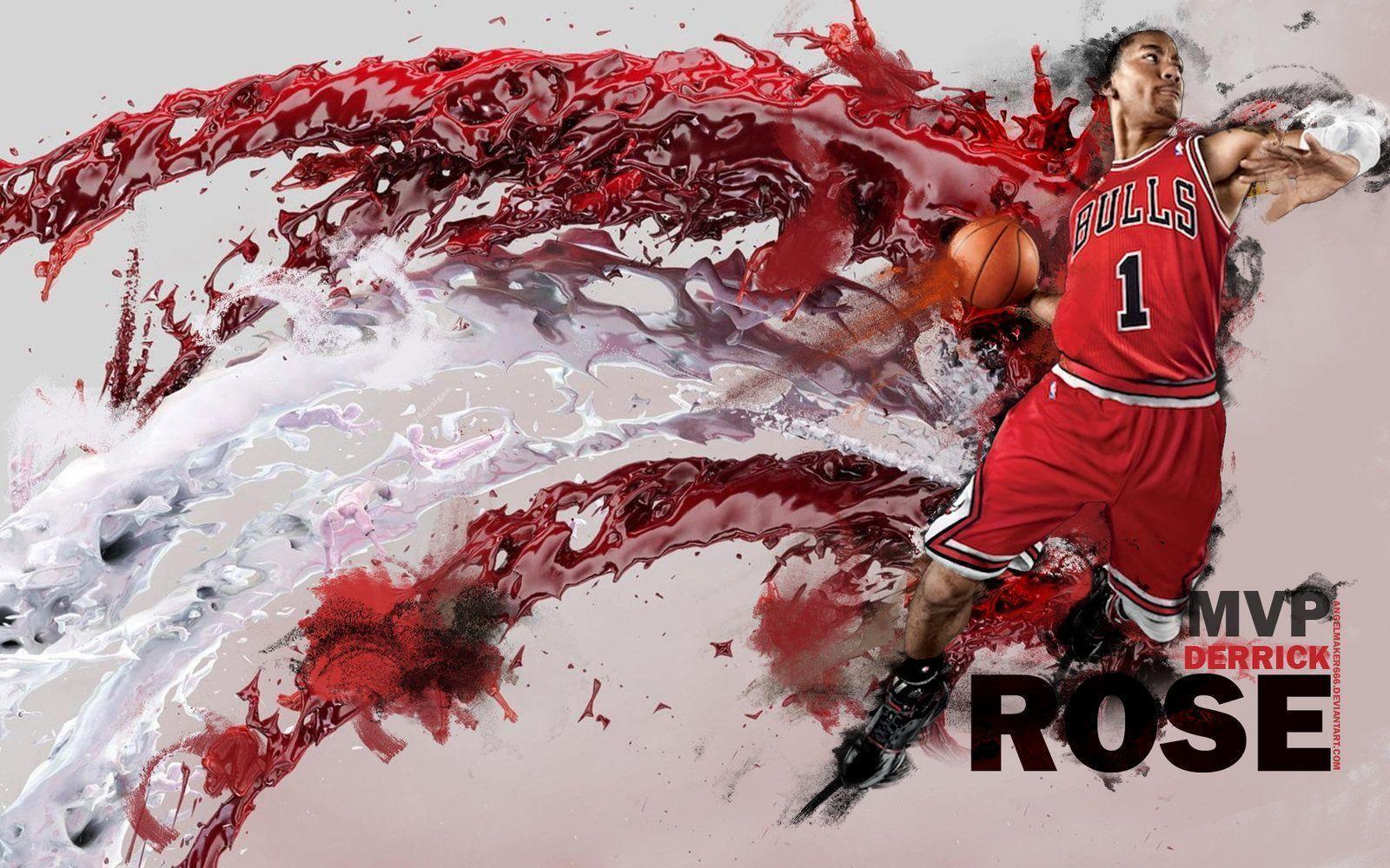 Nba chicago bulls wallpapers wallpaper cave - Derrick rose cool wallpaper ...